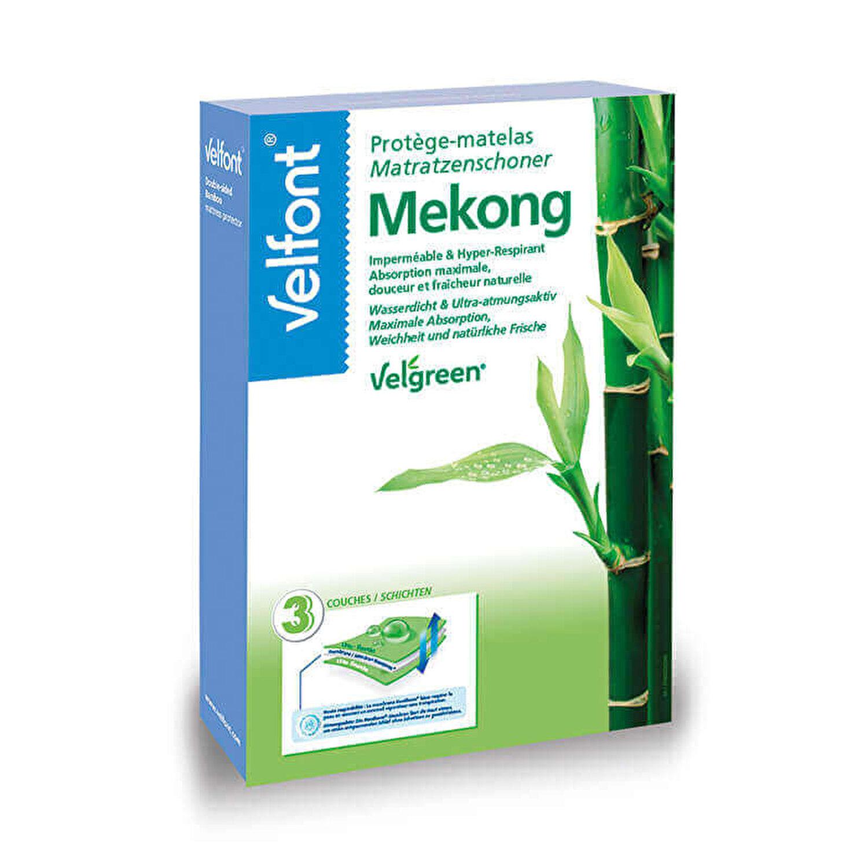 Velfont Mekong Bambu Çift Taraflı Sıvı Geçirmez Alez 160x200x30 cm